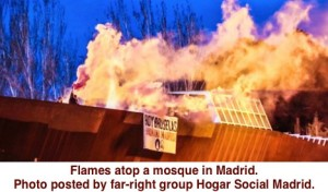 Madrid Mosque Fire Bomb